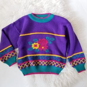 Vintage carters 90s floral sweater